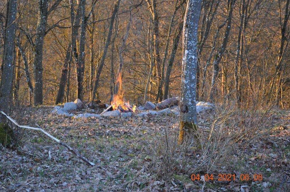 Osterfeuer am Feuerfelsen in Enzendorf 2021